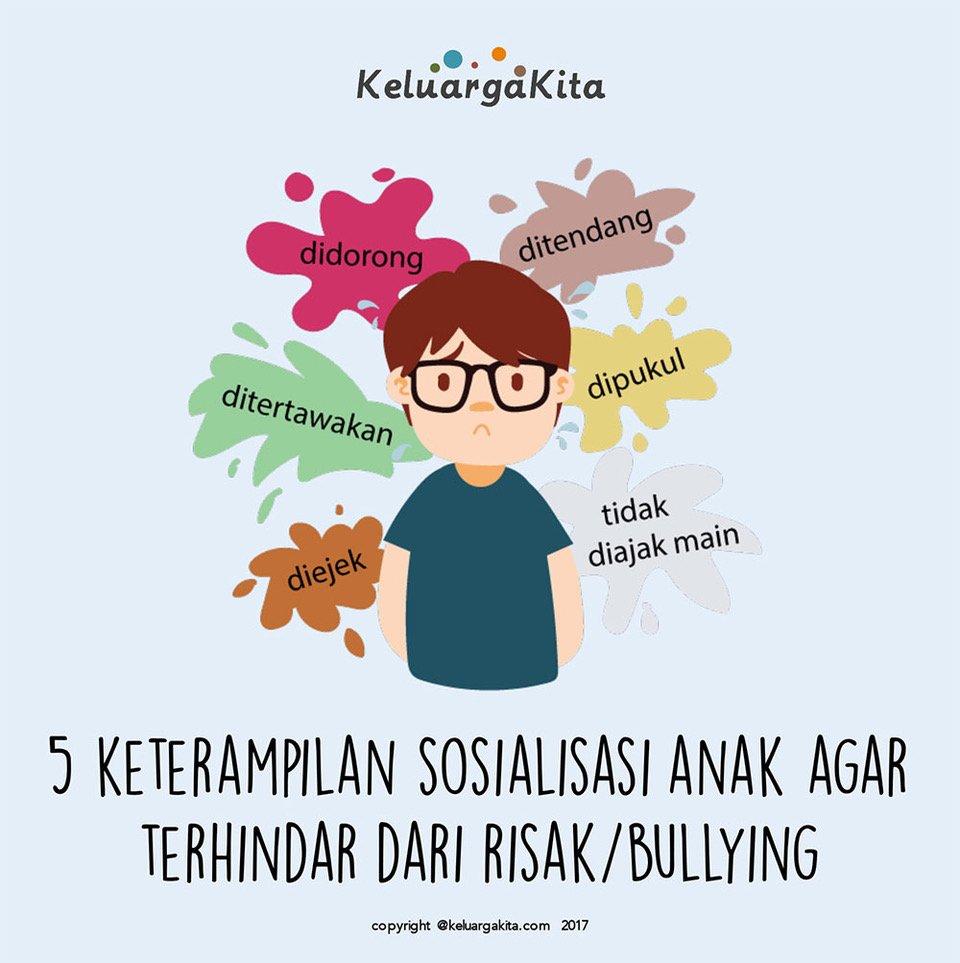 5 Keterampilan Sosialisasi Anak agar Terhindar dari Risak/Bullying